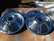 1-set Nos 14 In. With The Factory Boxes,. 1-set 13in. Used 1965 Mustang Hubcaps