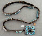 Vintage Lots Of Turquoise And Sterling Silver Concho Belt Daniel Martinez Nice