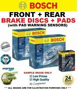 Bosch Front + Rear Brake Discs And Pads + Sensors For Bmw 3 E90 318 I 2005-2007
