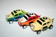 3 Johnny Lightning Jl Volkswagen Vw Baja Bugs Beetle - New - Push Chassis