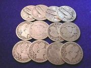 3.00 Face 90 Silver Us Silver Barber And Standing Liberty Quarters 455