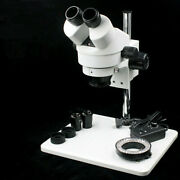 7x-45x Binocular Stereo Adjustable Microscope Led Light Source For Wl-745a New