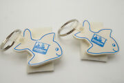 Set Of 2 Vintage Fish Shaped Key Rings Key Chains Iceland Seafood Corp