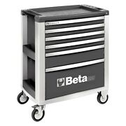 Beta Tools C39 Gray Mobile Rolling Tool Cabinet 31.49 W X 19.68 D X 38.22 H