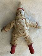 """Antique 7"""" Schoenhut Clown Andhat/humpty Dumpty Circus/wooden Toy/red Dots Costume"""