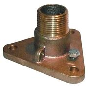 Groco 2-1/2 Nps To 2-1/2 Npt Male Bronze Pipe/pipe Adapter