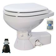 Quiet Flush 12v Marine Compact Bowl Electric Toilet For Salt And Fresh Water