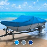 Ab Inflatable All Weather 14 Boat Coverand0396 L X 72 W Blue Outdoor Trailerable