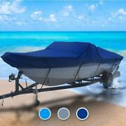 Crestliner All Weather 16 Boat Coverand0396 L X 88 W Navy Blue Outdoor Trailerable
