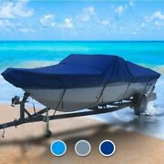 Ab Inflatable All Weather 14 Boat Coverand0396 L X 72 W Navy Blue Outdoor