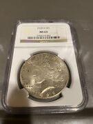 1928 S Peace Silver Dollar Ngc Ms-63
