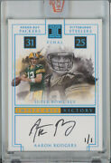 2020 Panini Honors Recollection Collection Iv-ar Aaron Rodgers Packers Auto 1/1