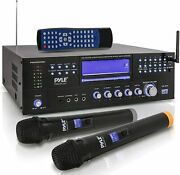 New Pyle Bluetooth 3000 W Stereo Receiver Amplifier Amfm Dvd Cd Usb Aux-in Remot