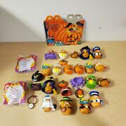 Vintage 1992 Mcdonalds Halloween Nugget Buddies Huge Lot With Happy Meal Box