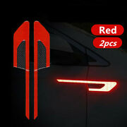 2pcs Universal Auto Car Door Open Sticker Reflective Tape Safety Warning Decal
