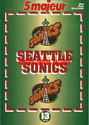 1996 Seattle Supersonics 14 Page Mini Book From French Magazine A011