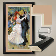 26wx44h Dance At Bougival By Pierre Renoir - Double Matte Glass And Frame