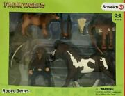 Schleich Farm World 11-piece Roping Cowboy And Horse Toy Playset For Kids A