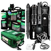 Tactical Survival Multi Tools Kit Camping Hiking Emergency Outdoor Gear Set Sos