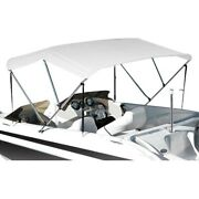 Eevelle Summerset Premium 6and039 L X 61-66 W Silver Polyester 3-bow Bimini Canvas