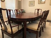 Chinese Rosewood Dining Table Set- Houston Local Pick-up Only