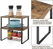 2 Pack Extendable And Stackable Counter Top Organizers Shelves For Kitchen,cabinet