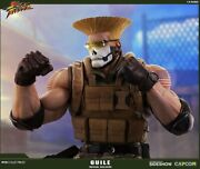 Pop Culture Shock Street Fighter Tactical Guile 1/4 Figure Statue Only 50 Made