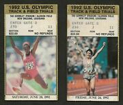1992 U.s. Olympic Track And Field Trials Ticket Stub Gromley Stadium New Orleans