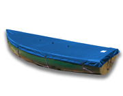 Lehman 12 Wooden Rails Top Deck Boat Cover - Polyester Royal Blue