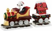 Peanuts Department 56 Snoopyand039s Christmas Train Set 4055828 New In Box Retired