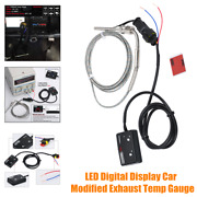 Led Digital Display Car Modified Exhaust Thermometer With Sensor Pyrometer Gauge