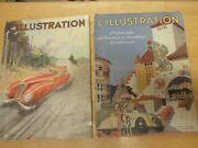 French Magazine Land039illustrationn 1930and039s 1950 Lot Of Four Auto Car Art Brenet