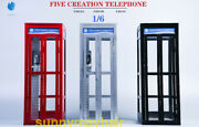 Fivetoys 1/6 Metal Telephone Booth Phone House F2013 Fit 12and039and039 Action Figure