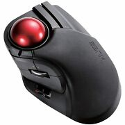 Elecom 2.4ghz Wireless Finger-operated Large Size Trackball Mouse 8-button Funct