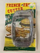 """Vintage French Fry Cutter Heuck Hand Held 5 1/2"""" X 3""""aluminum Unique Item"""