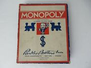 Antique 1930s Monopoly Game Parts Wood Houses Hotels Tokens Money Cards 12348