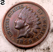 1899 Indian Head Penny Cent // Uncirculated Red-bn // Four Diamonds I2132