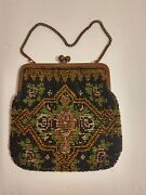 Antique Beaded Purse Made In Germany