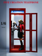 Fivetoys F2013a 1/6 Telephone Booth Room House Model 12and039and039 Figure Scene Platform
