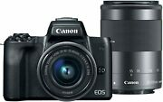 Canon Eos M50 Mirrorless Camera With Ef-m15-45mm And Ef-m 55-200mm Lenses, 4k