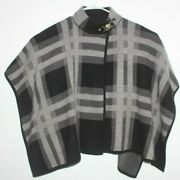 Anne Klein Gray And Black Womenand039s Poncho