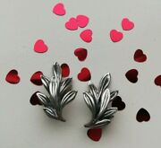 Bernard Instone C1930 Hand Crafted Leaves Cluster Arts And Crafts Earrings
