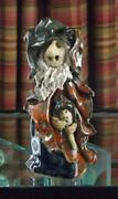 Clare Craft Pottery Figurine Wizard Witch 8 1/4 Tall