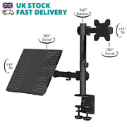 Monitor Mount And Laptop Stand Adjustable Arms 13-27 Screens Vesa