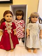 Pleasant Company American Girl Dolls - Molly, Kirsten 1990 And Felicity 2004