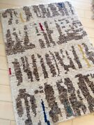 Beni Ourain Morrocan Hand Made Area Rug Artisan 9and039 X12 New Modern Thick Pile A+