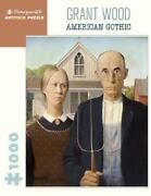 Grant Wood American Gothic 1000 Piece Puzzlepomegranate Puzzles New