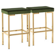 Coaster Backless Counter Height Stools Rose Gold Grey And Green Set Of 2