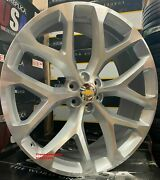 26and039and039 Snowflake Wheels Silver Machine Tires Chevy Tahoe Yukon Avalanche Suburban