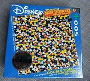 New Disney Mickey Mouse Worldandrsquos Most Difficult Jigsaw Puzzle 500 Pc Double Sided